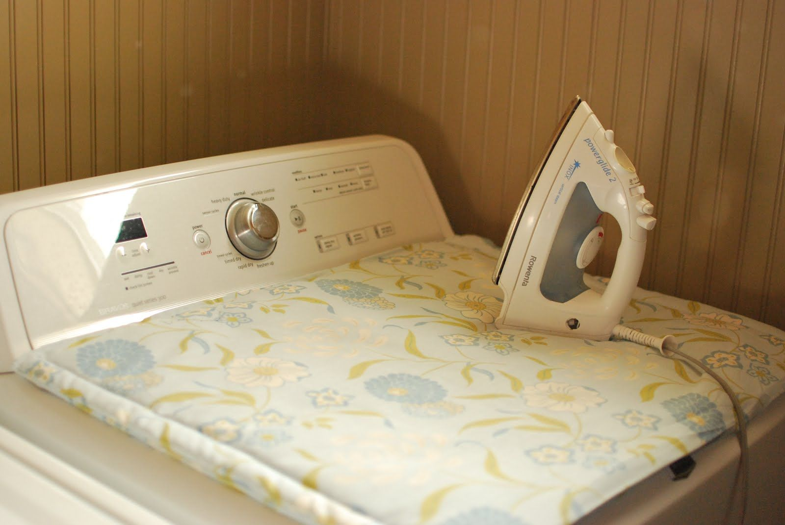 Ironing board for over your dryer - great for small spaces
