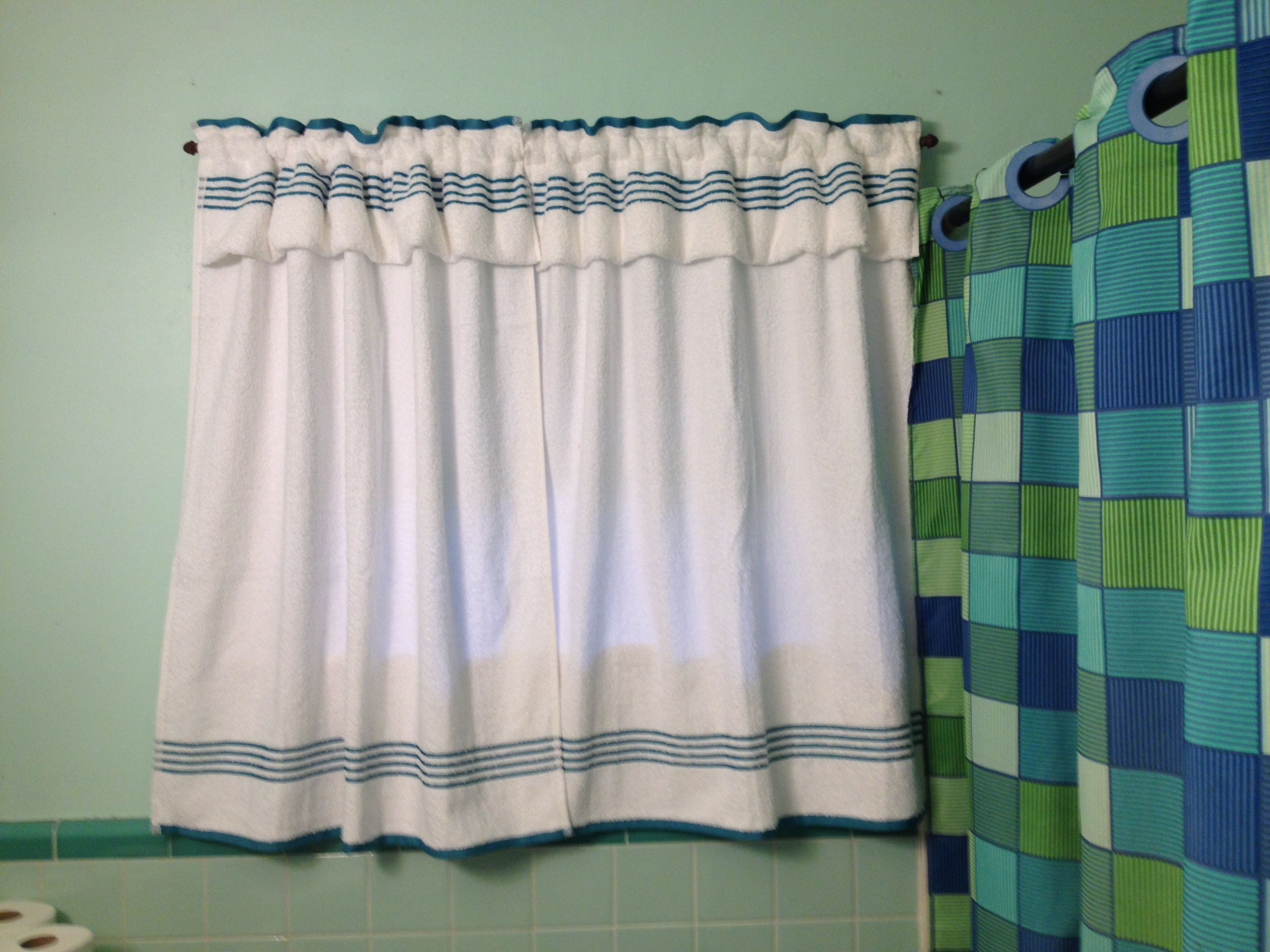 Bathroom Curtains Made From Bath Towels The 8 Inch Pocket Tuck