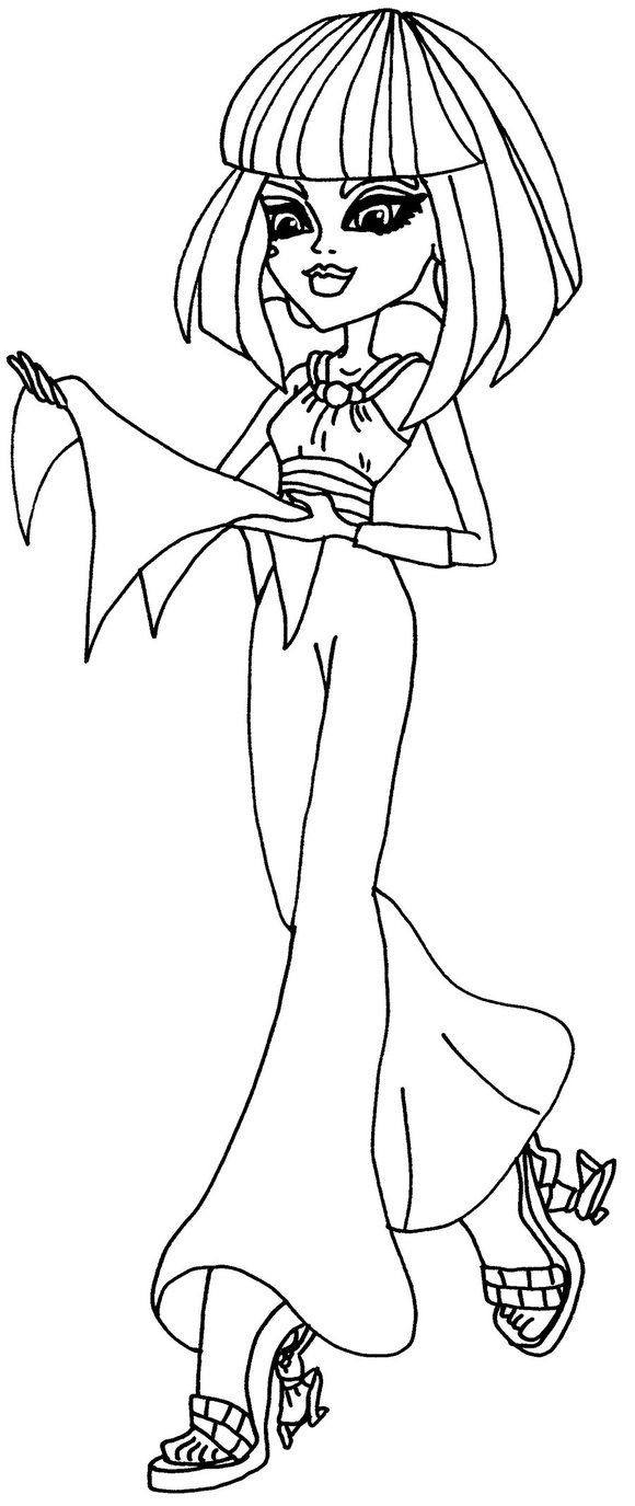 Cleo de Nile Monster High Coloring Pages | Haunted Halloween ...