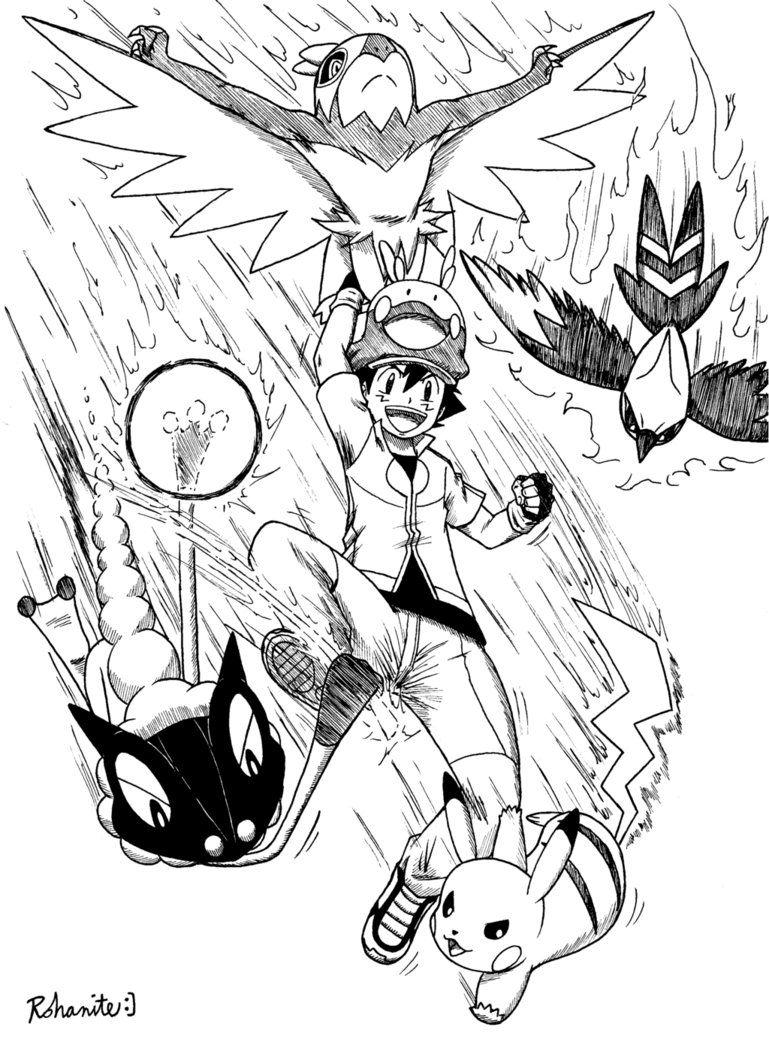Ash Xy Team 2 Pokemon Pokemon Special Pokemon Art
