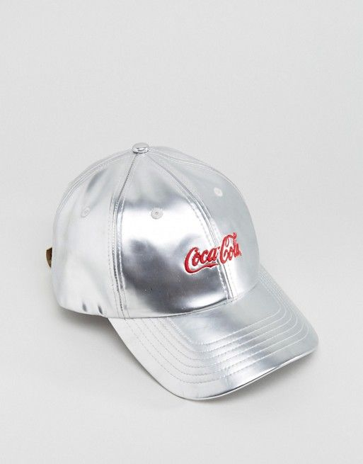 acf4603bc3d67 Hype x Coca Cola Baseball Cap In Metallic Silver
