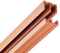 Knape And Vogt P2421tan48 48 1219mm Plastic Track Set For 1 2 Thick Bypassing Doors Tan Bedroom Design Hardware Sliding Doors