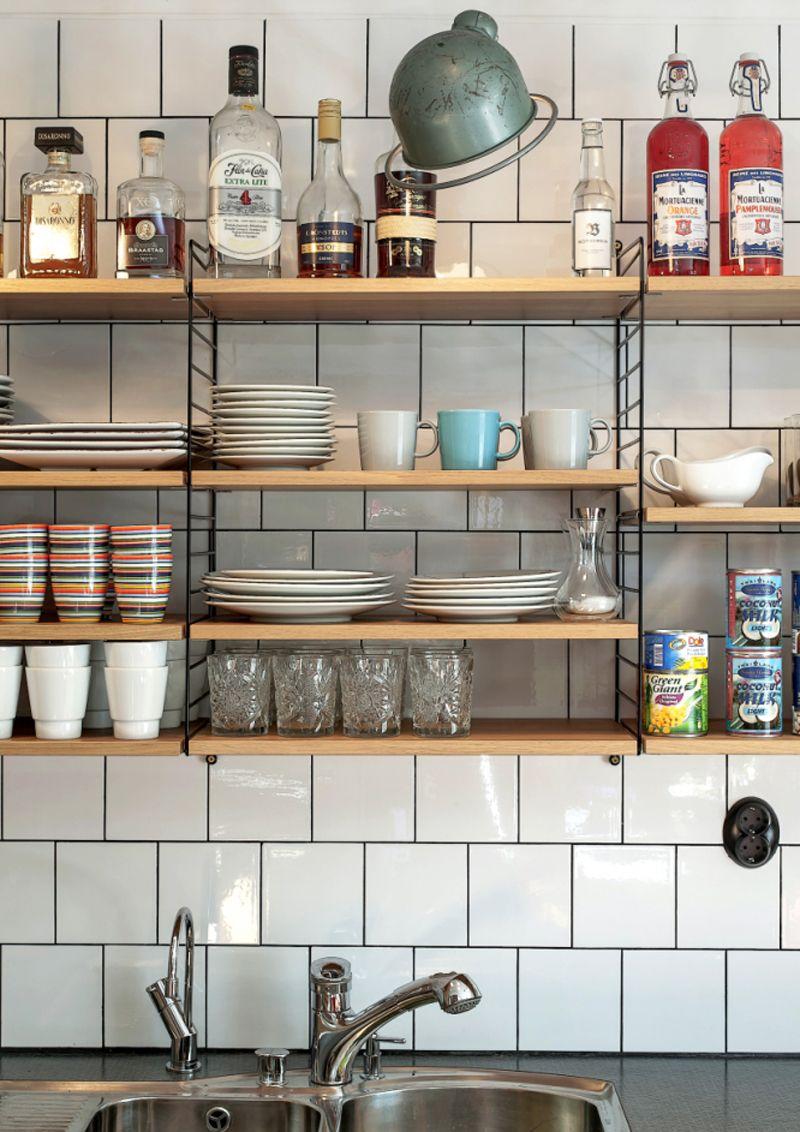 tutto a vista in cucina | mensole e scaffali aperti | cucina a vista ...