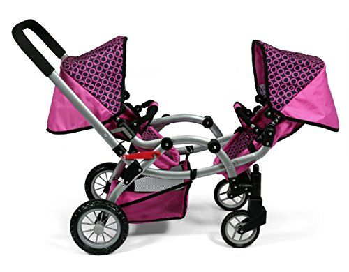 780cfe983 Deluxe Twin 2 in 1 Doll Stroller/Pram Extra Tall 30.5