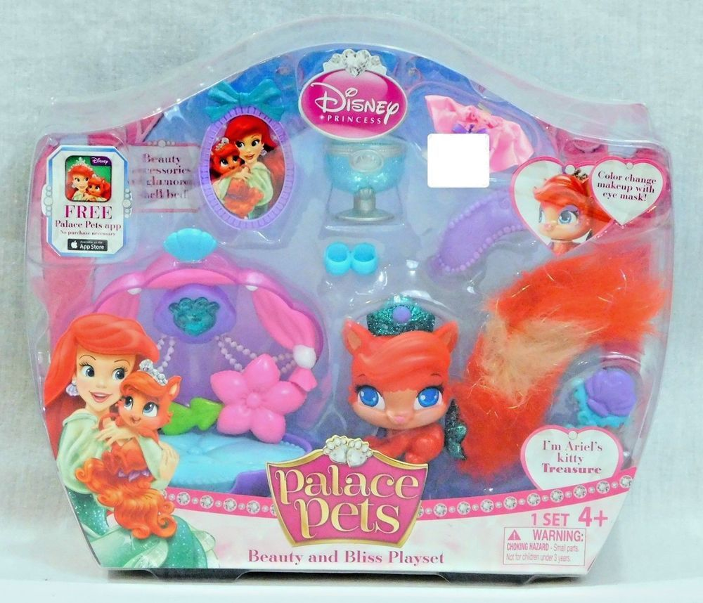 Disney Princess Palace Pets Beauty And Bliss Play Set Ariel S Kitty Treasure Disney Disney Princess Palace Pets Princess Palace Pets Palace Pets