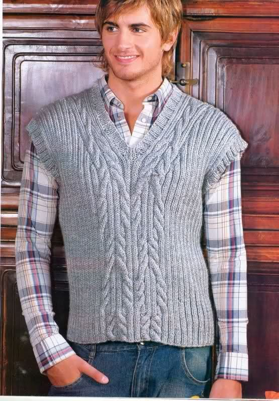Patrones de chaleco para hombre. | Punto de 2 agujas | Pinterest ...