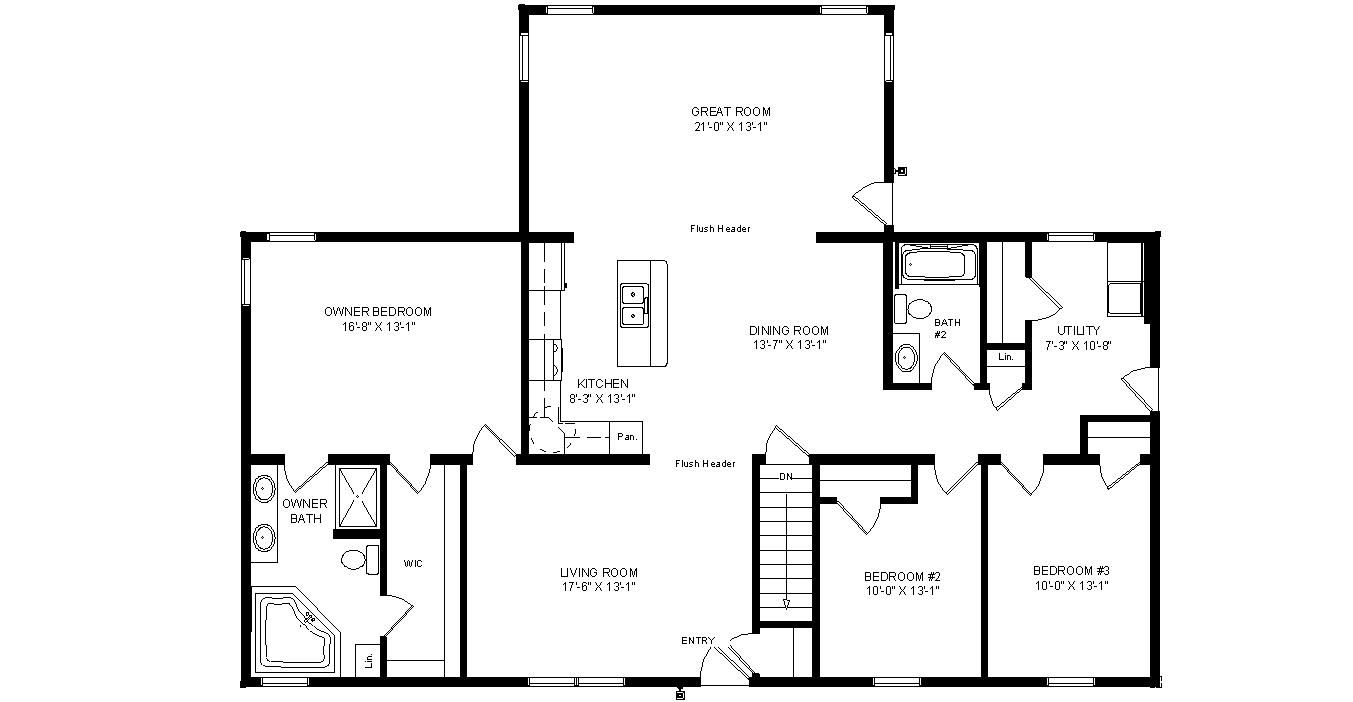 Springfield Floorplan of Designer Collection - All American Homes