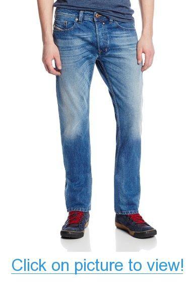 Diesel Men's Safado Slim Straight Leg Jean 0826A #Diesel #Mens #Safado #Slim #Straight #Leg #Jean #0826A
