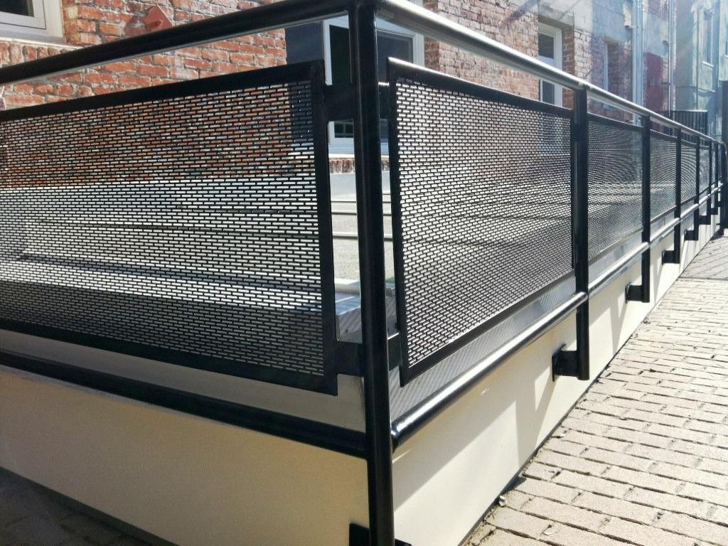 Exterior metal stair railings more reader come with this for Modern balcony railing design
