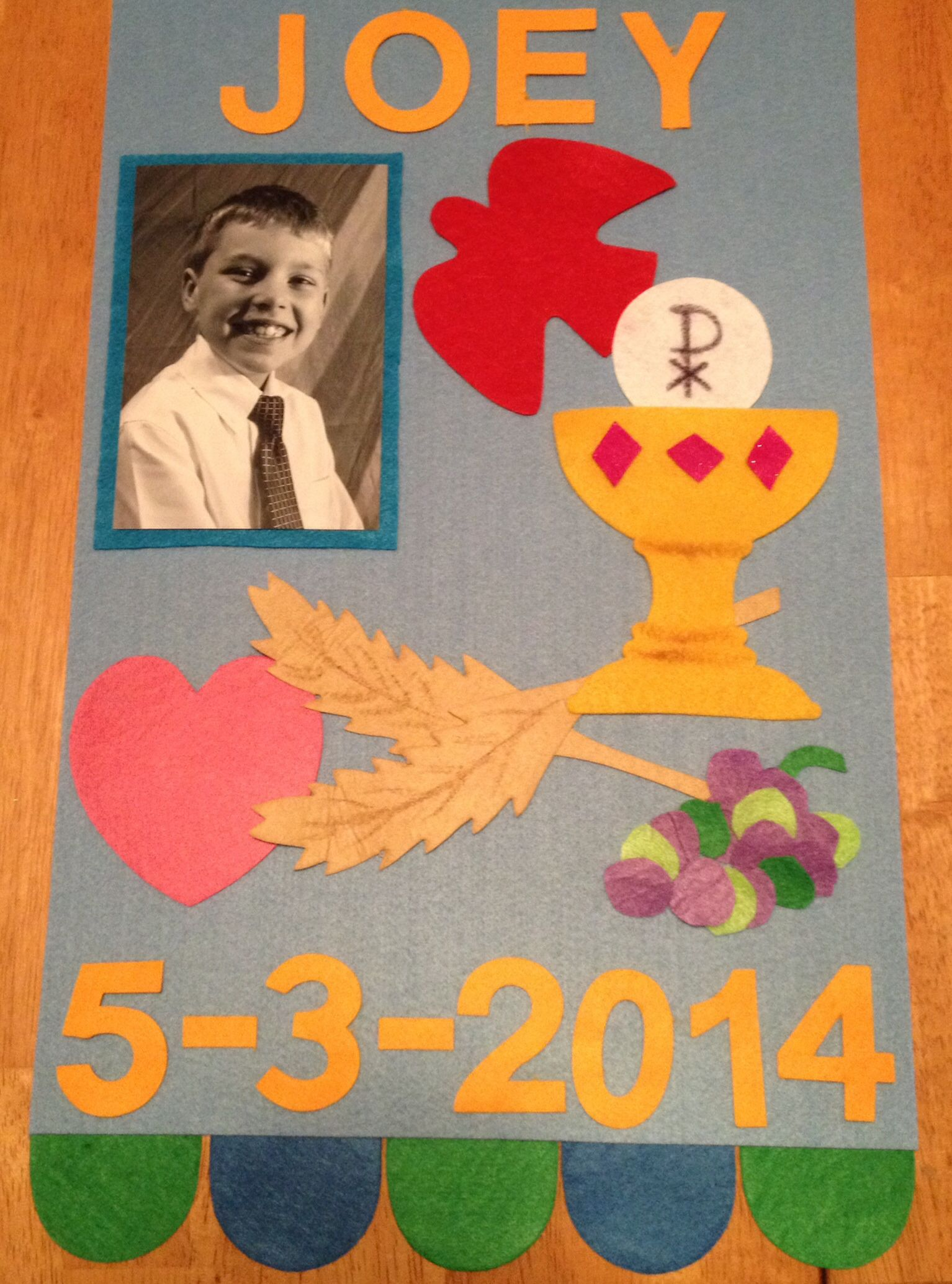 Joey S First Communion Banner