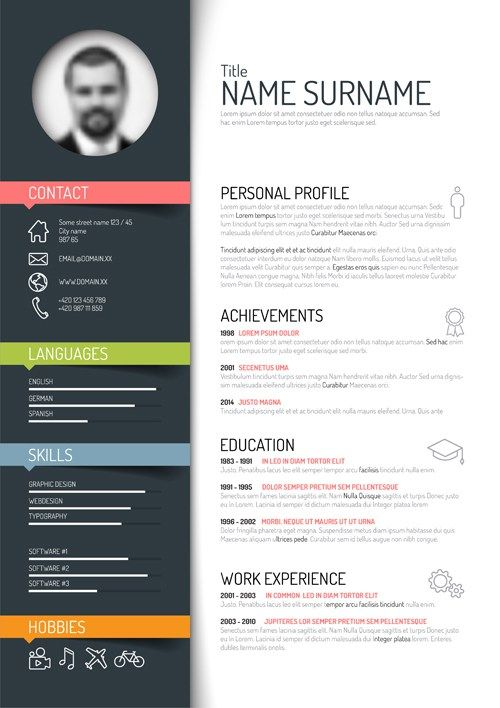 Resume Web Template Creativeresumetemplatedesignvectors02 500×708  Resume