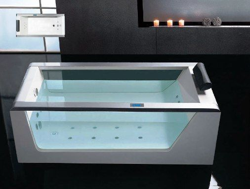 Ariel Platinum AM152 Jacuzzi Whirlpool, Beautiful Cascade Water Inlet, 15  Jets Total, 6