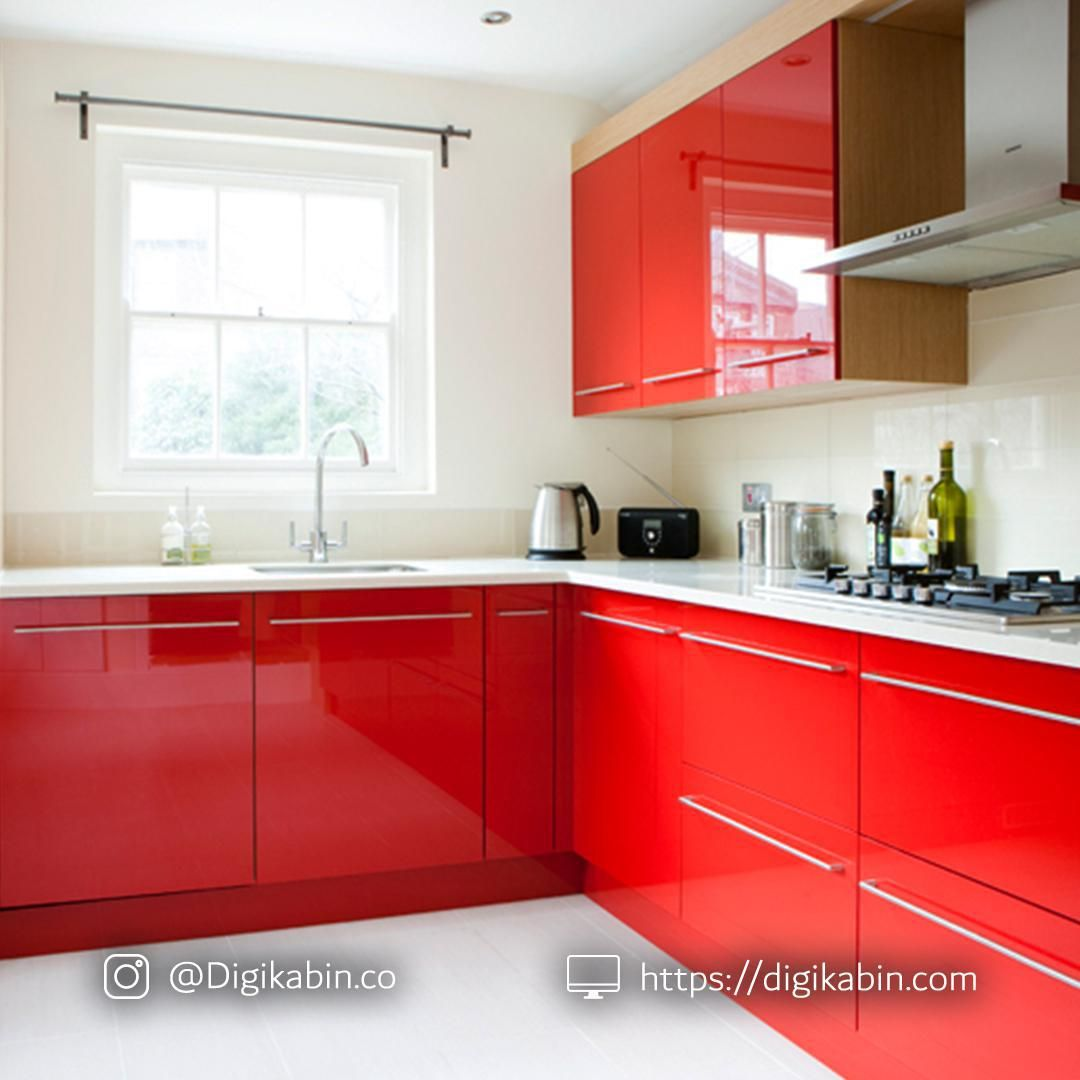 Pin By Aladecor1 On كابينت هايگلاس In 2020 Red Kitchen Cabinets Red Kitchen Decor Red Kitchen
