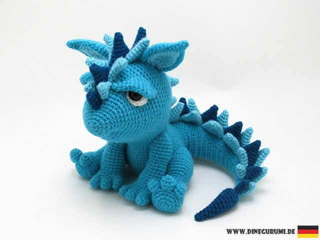Spikey crochet pattern | Dragones, Patrones amigurumis y Ganchillo