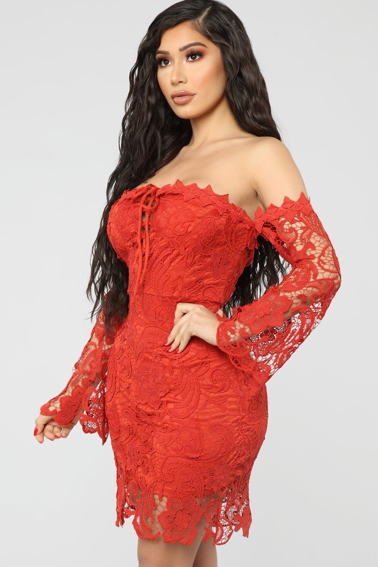 Evening Of Romance Crochet Mini Dress Red in 2020 Red