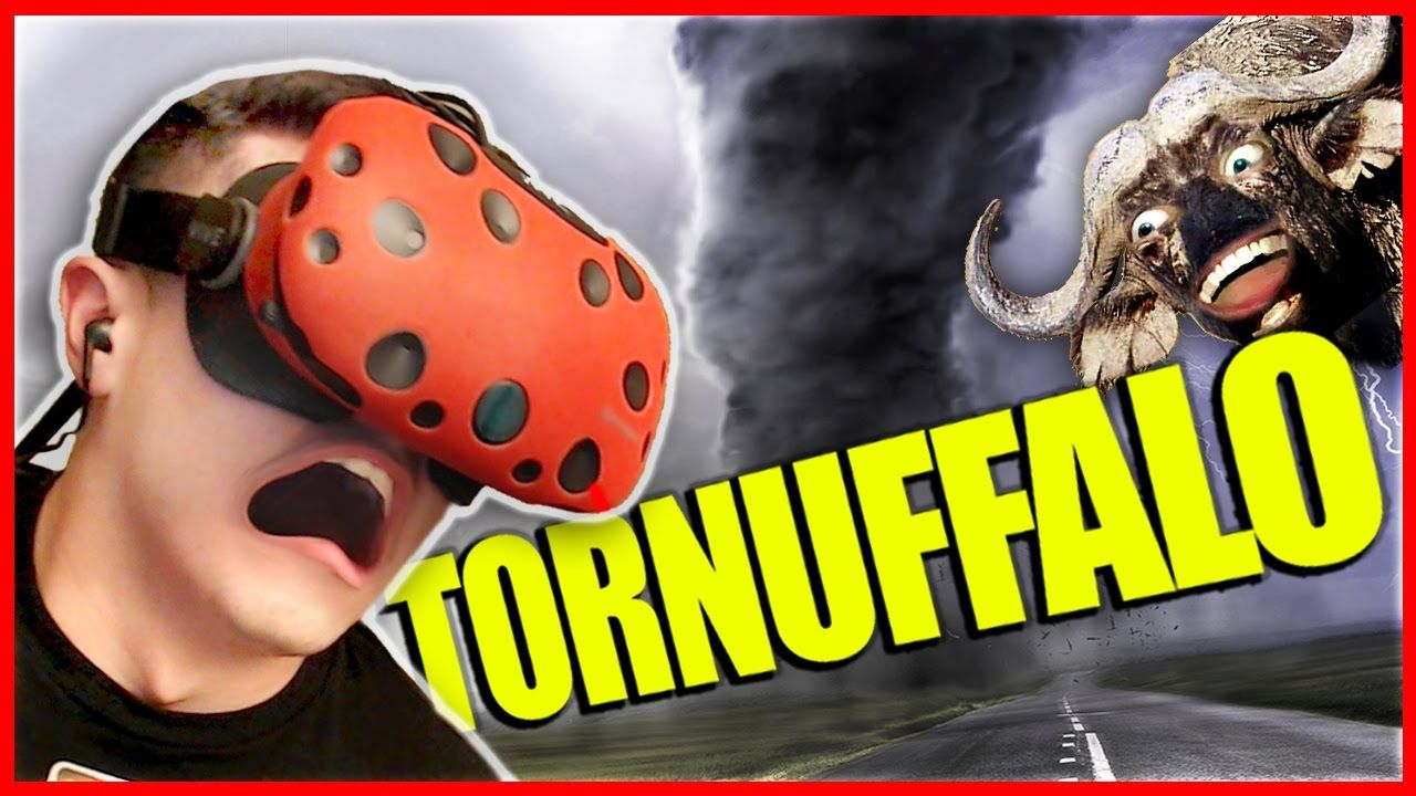 DODGING TORNADOES AND BUFFALOES - VR Tornuffalo (HTC Vive Virtual Realit...