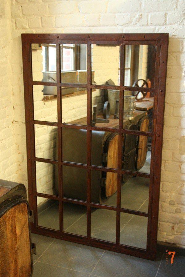 Délicieux Grand Miroir Industriel #14: Magnifique Grand Miroir Industriel Finition Rouille