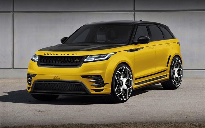 Download wallpapers Lumma Design, tuning, Range Rover Velar, 2018 cars, Lumma RR Velar, SUVs, Range Rover