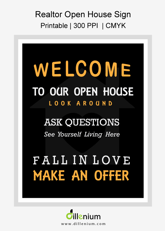 Printable Realtor Open House Flyer 11x14 Inches Instant Download Open House Open House Real Estate Open House Signs
