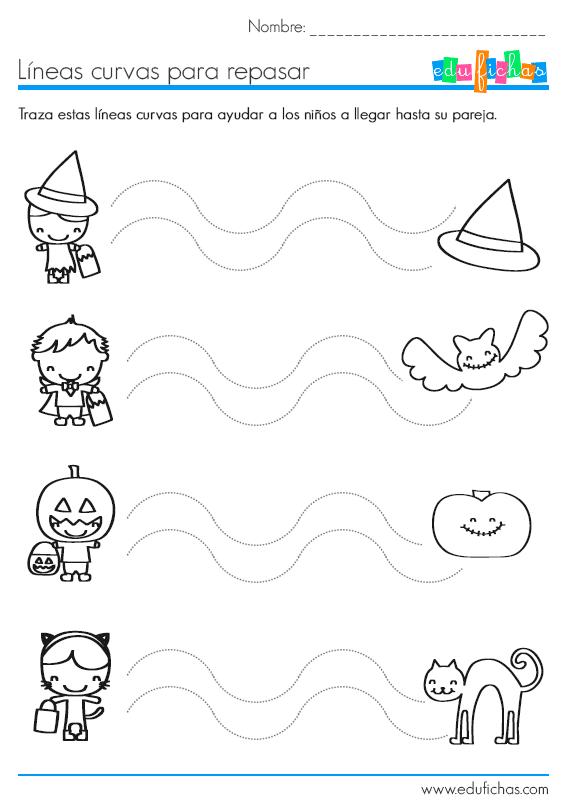 Líneas curvas de Halloween | halloween | Pinterest