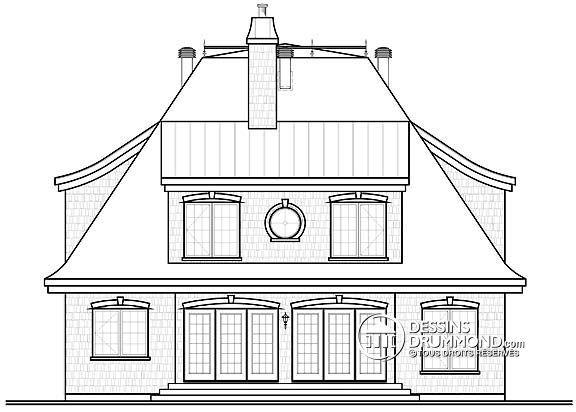 Détail du plan de Maison unifamiliale W2673 Floor Plans Pinterest