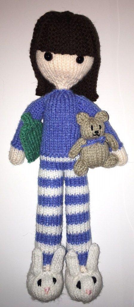 Goodnight Daisy Doll Free Knitting Pattern - includes tiny teddy ...