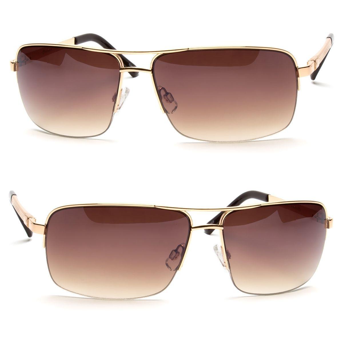 bb820450e709 Classic Retro Mens Fashion Metal Aviators Vintage Designer Sunglasses Black  l
