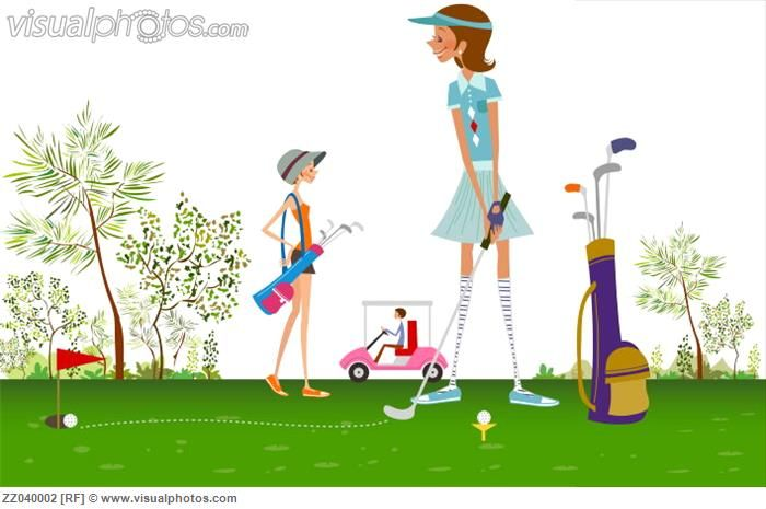Lady Golfer Clip Art  Related Pictures Three Women -1034
