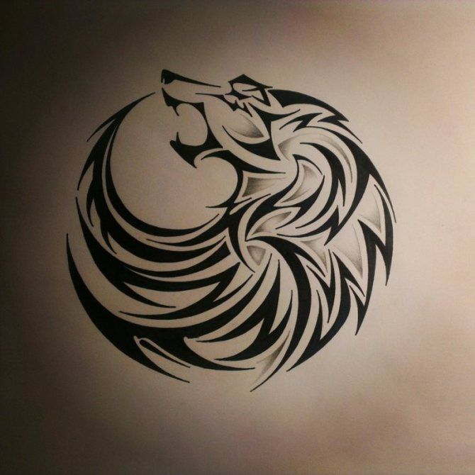 90 Wolf Tattoos Tribal Wolf Tattoo Wolf Tattoo Design Tribal Wolf