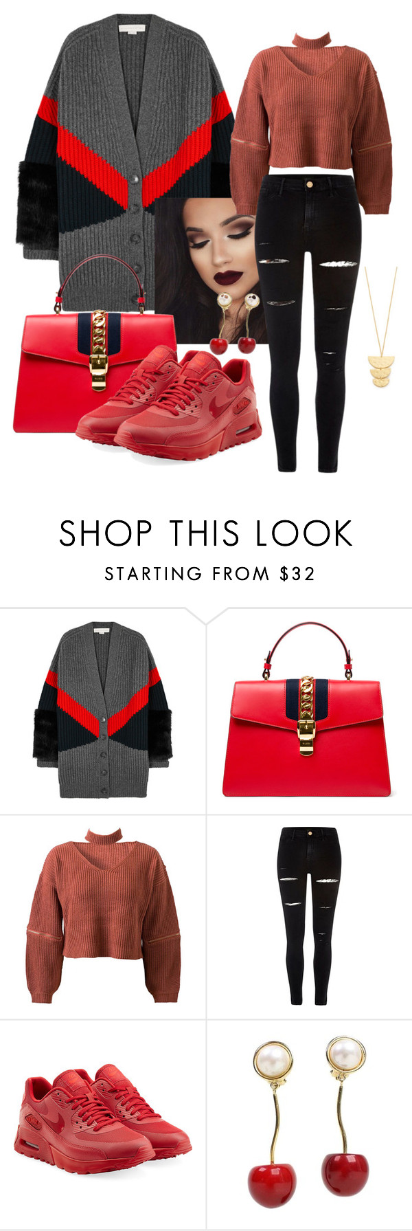 """""""Miss Boss"""" by missboss146 ❤ liked on Polyvore featuring STELLA McCARTNEY, Gucci, WithChic, River Island, NIKE, Valentino and Gorjana"""