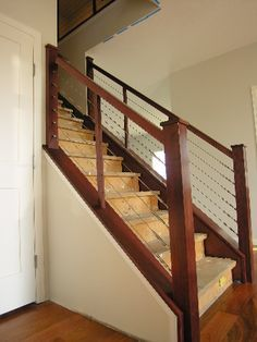 Modern Stairs Metal Wood Railing   Google Search