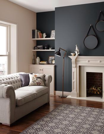 Pin by aga sobkowiak on home design decora o sala - Purple feature wall living room ideas ...