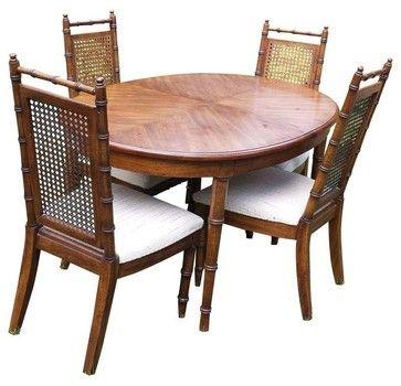 american of martinsville dining room set | Pre-owned American of Martinsville Faux Bamboo Dining ...