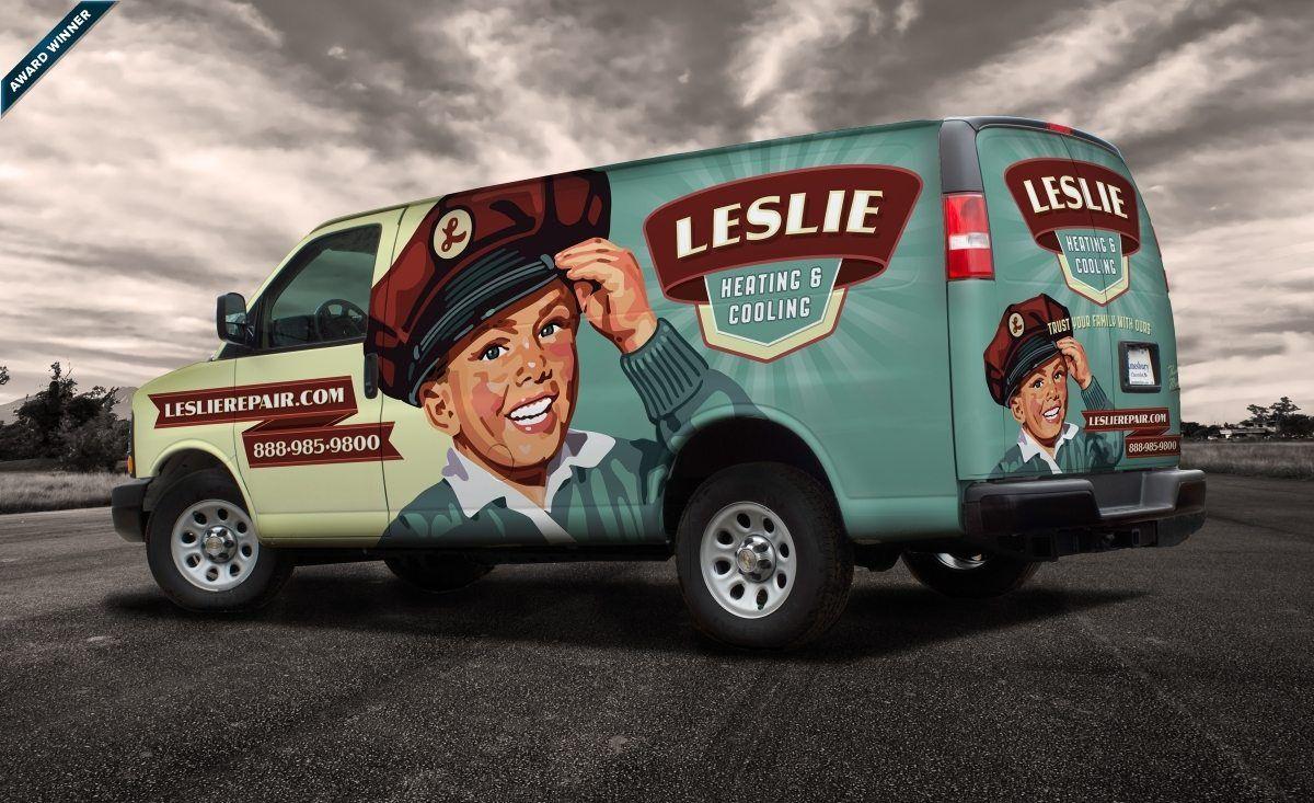 Leslie Heating Cooling Kickcharge Creative Cool Trucks