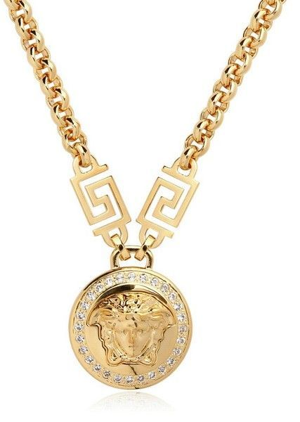 Versace Jewelry for Men   Versace Medusa Crystals Gold Plated Necklace in  Gold - love    mensfashion    mens    fashion ba32178f414