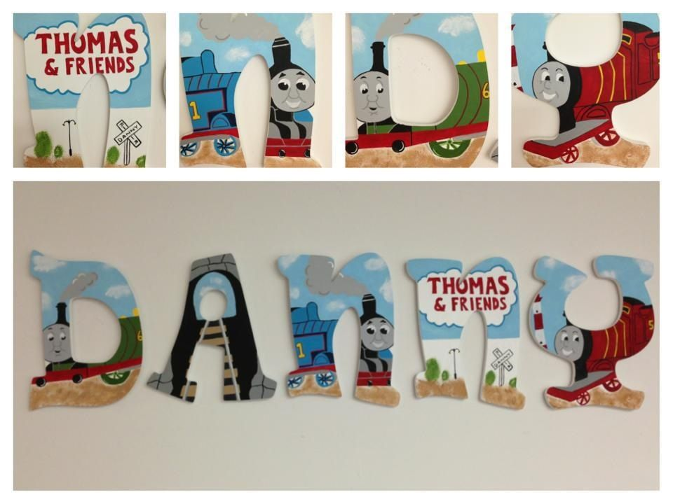 thomas the train inspired wooden hand painted letters please visit wwwfacebookcom