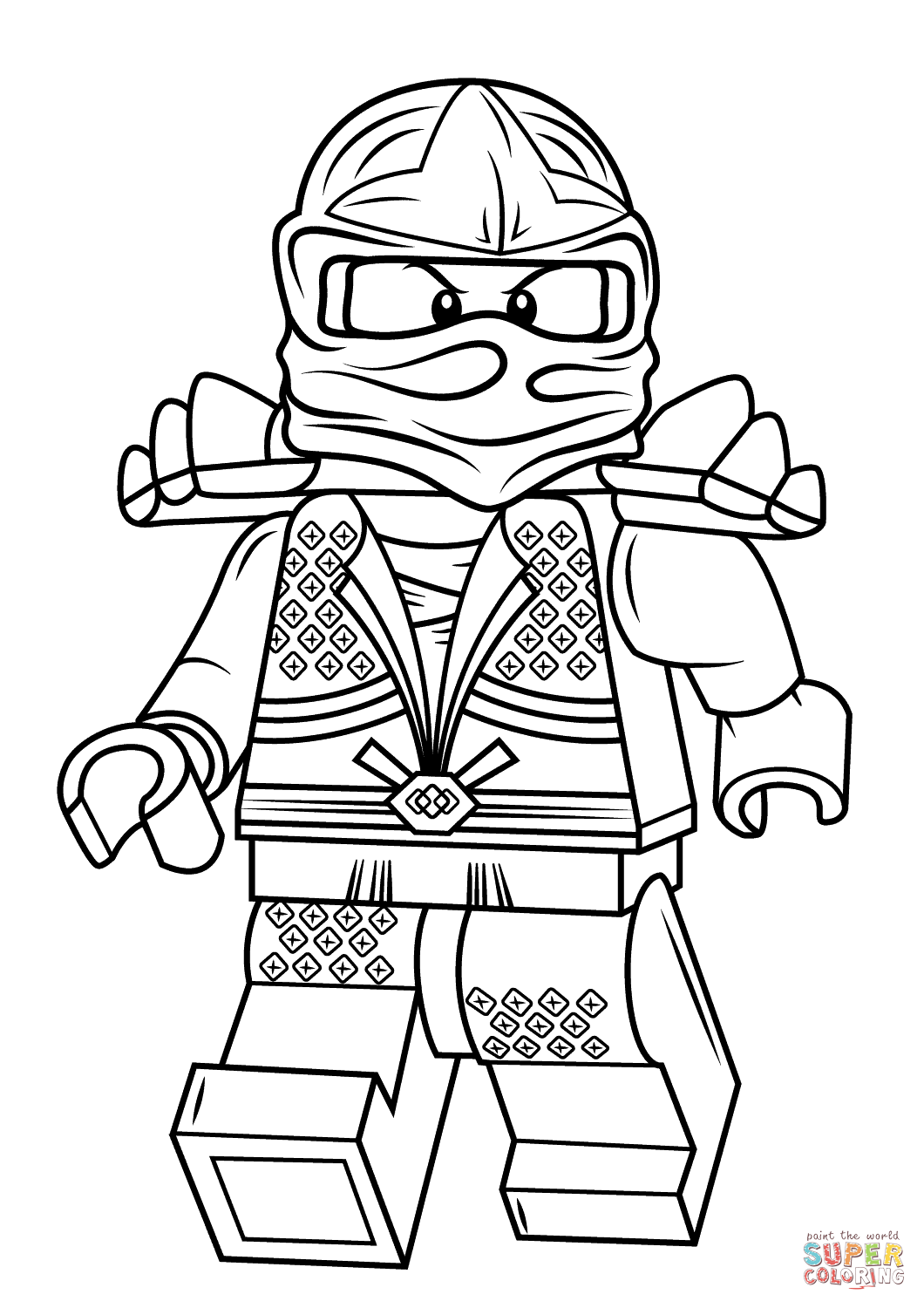 Lego Ninjago Coloring Pages for kids 9