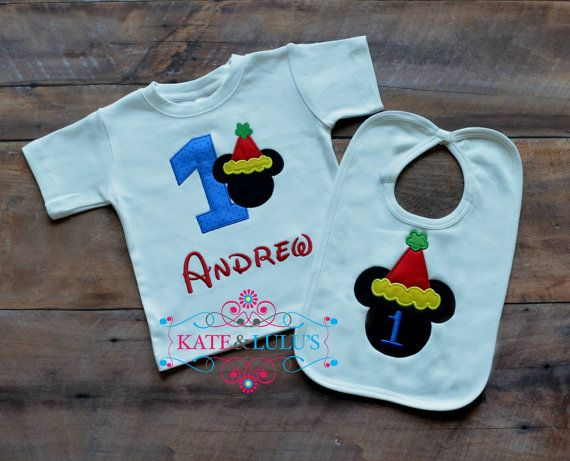Personalized Mickey Mouse Birthday shirt Mickey by KateandLulus, $30.00