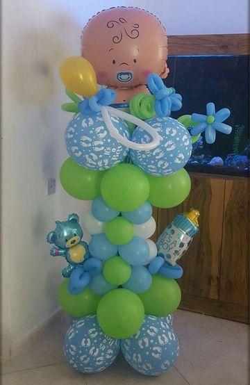 Adornos En Figuras De Globos Para Baby Shower Baby Shower
