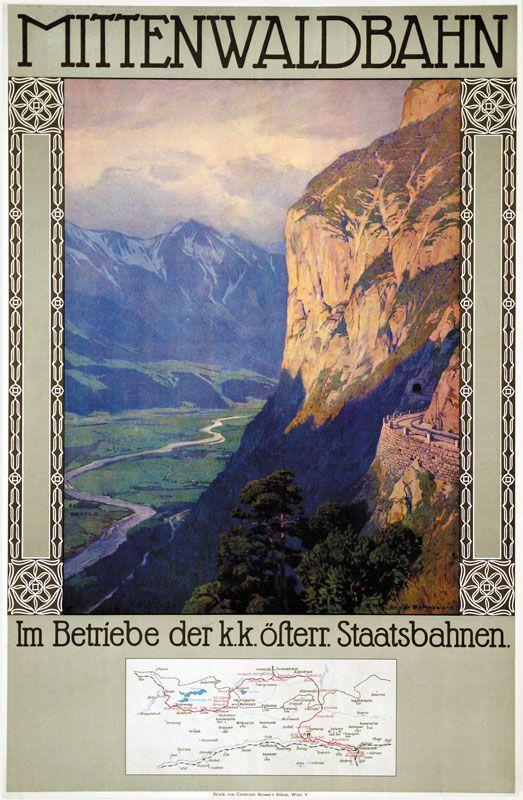 Mittenwald Germany 1912 Artist Gustav Jahn Reiseposter