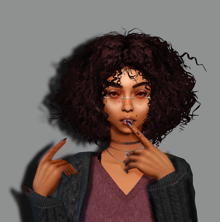 """Its A Vibe """"Hair: @spacey-sims ♥ Please Excuse The"""