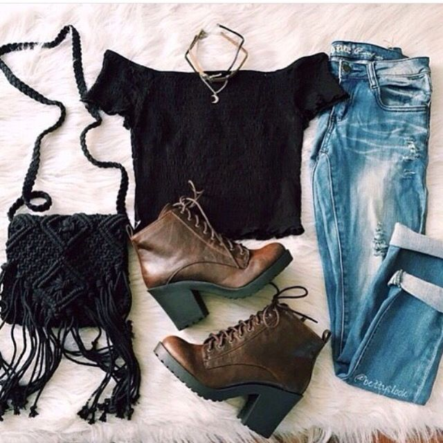#tumblr #boots #tasselbag #spring #fall