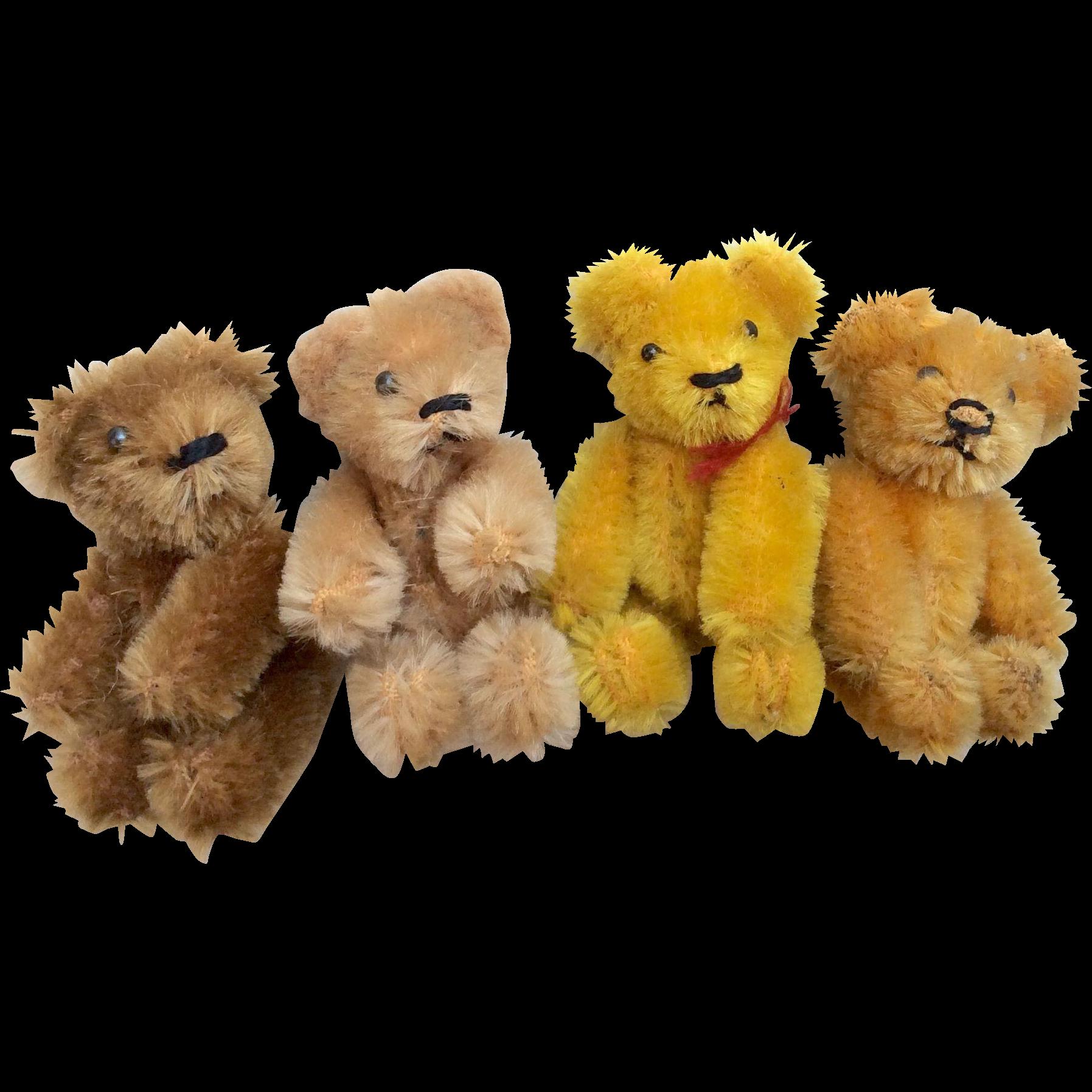 4 German Schuco Miniature 2 75 Teddy Bear For Doll Or Dollhouse Teddy Teddy Bear Antique Teddy Bears