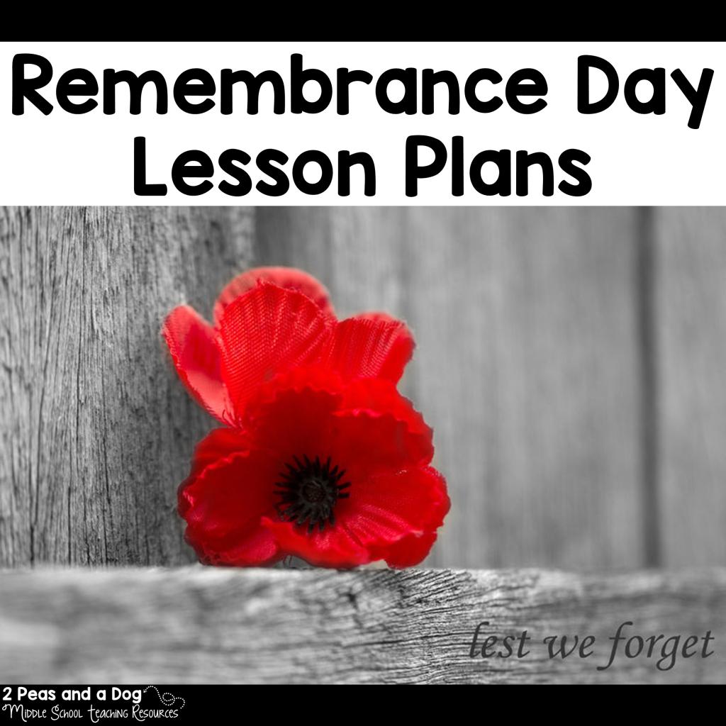 Remembrance Day Lesson Plans