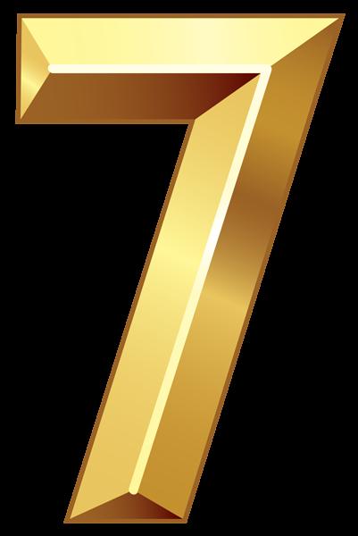 Gold Number Seven Png Clipart Image Gold Number Clip Art Bubbles Wallpaper