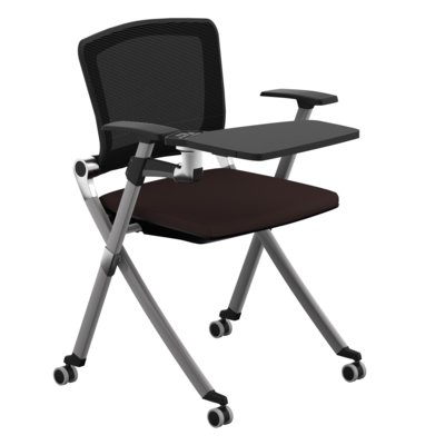"Compel Office Furniture Concept compel office furniture ziggy 19.25"" mesh tablet arm chair seat"