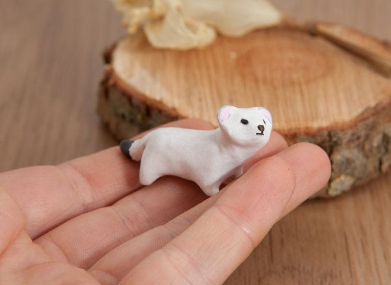 Stoat weasel animal totem by LifedanceCreations