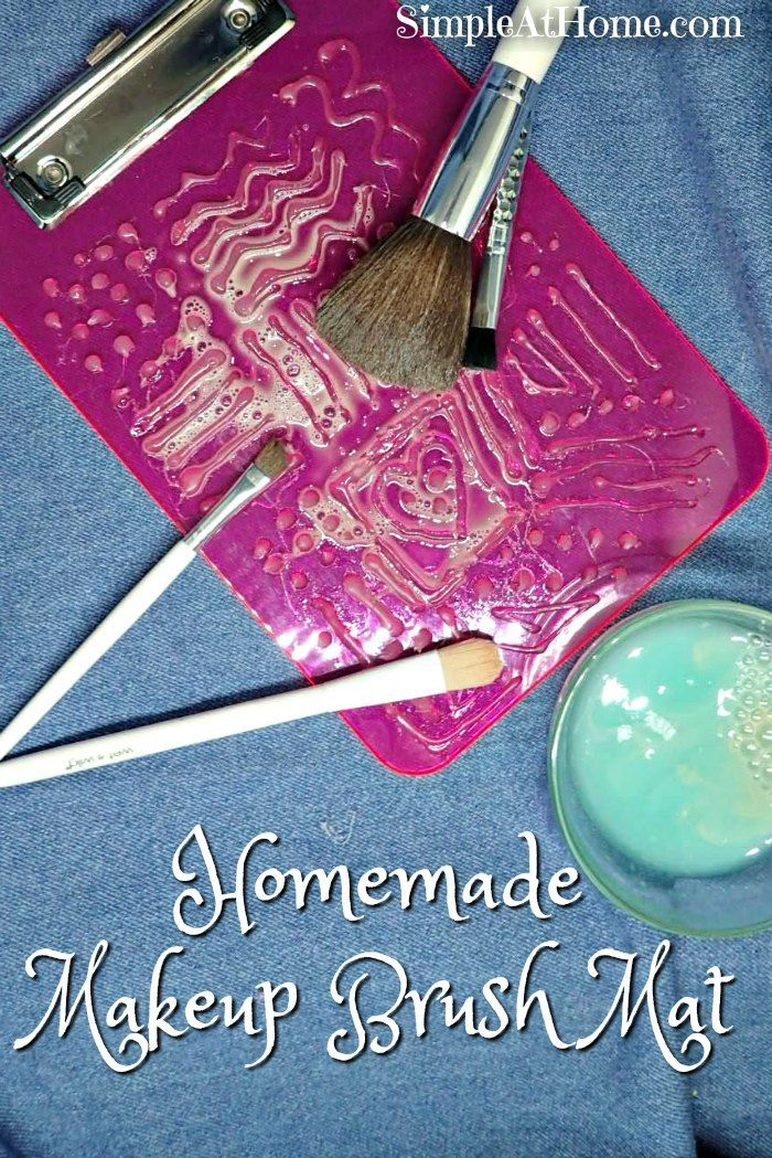 DIY Makeup Brush Cleaning Mat Diy makeup brush cleaner
