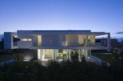 Minimalist Villa Design contemporary minimalist villa design with indoor patio, italy (+