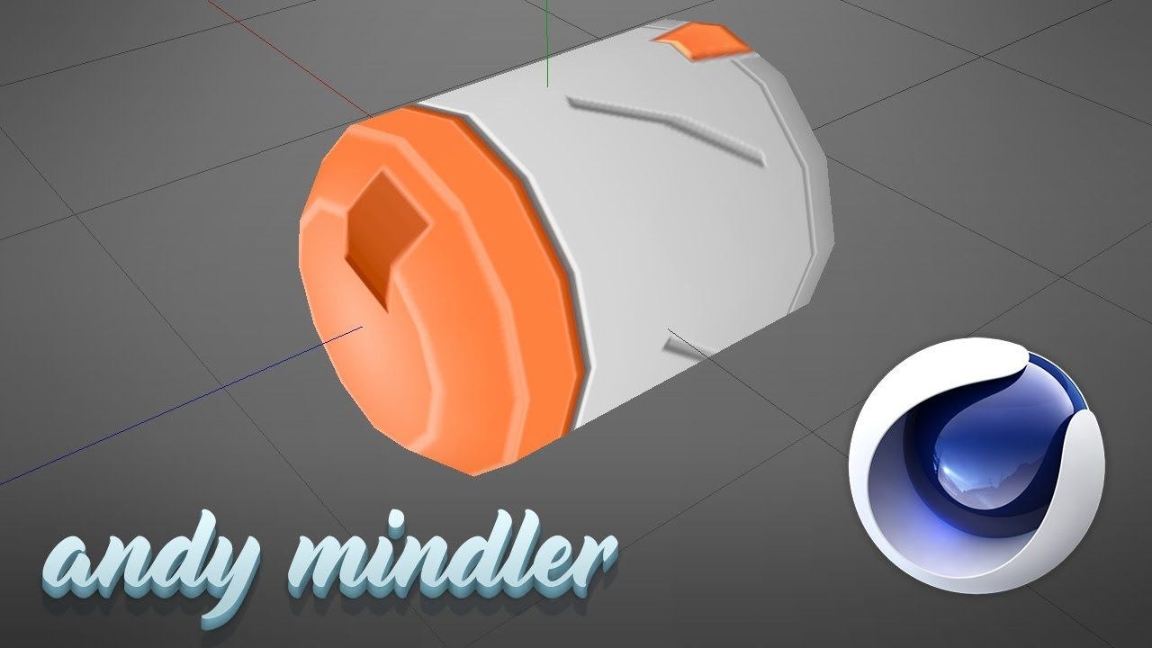 3D Modeling in Cinema4D - Low-Poly Missile